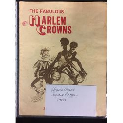 1950'S HARLEM CROWNS SOUVENIR BASKETBALL PROGRAM