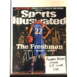ANDREW WIGGINS AUTOGRAPHED SPORTS ILLUSTRATED COVER W/ COA