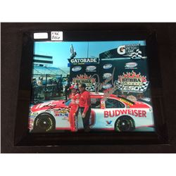 "KYLE BUSCH SIGNED 8"" X 10"" FRAMED COLOR PHOTO"