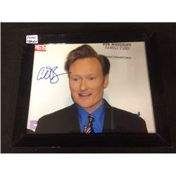"CONAN O'BRIEN SIGNED 8"" X 10"" FRAMED COLOR PHOTO"