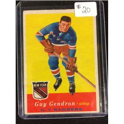 1957-58 Topps:#52 Guy Gendron,