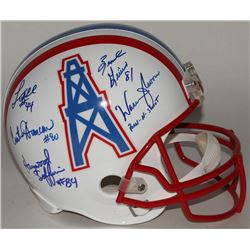 Houston Oilers Throwback Helmet Signed By (5)