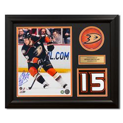 aac12b629 Ryan Getzlaf Anaheim Ducks Signed Franchise Jersey Number 23x19 Frame