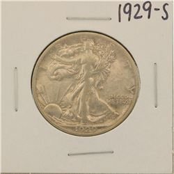 1929-S Walking Liberty Half Dollar Coin