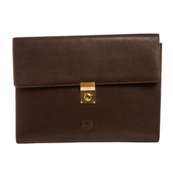 Loewe Brown Leather Portfolio Document Holder Bag