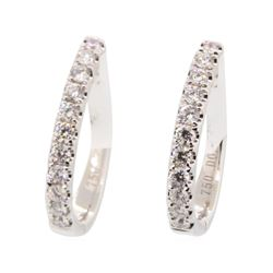 0.4 ctw Diamond Earrings - 18KT White Gold