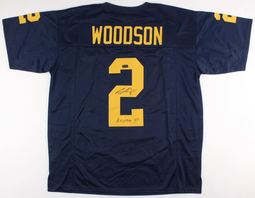 Image 1   Charles Woodson Signed Michigan Wolverines Jersey Inscribed