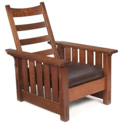 Gustav Stickley Morris chair, #332,
