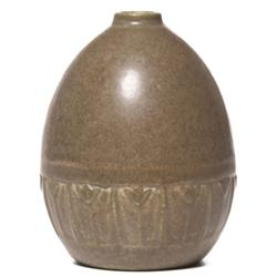 Rookwood vase mottled brown matt glaze
