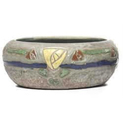 Roseville  Mostique  bowl, green