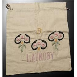 Arts & Crafts laundry bag embroidered