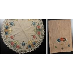 Arts & Crafts table mat embroidered