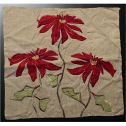 Arts & Crafts linen embroidered