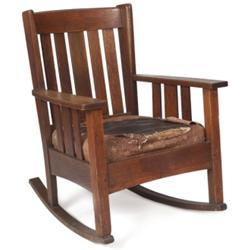 Stickley Brothers arm rocker, #405,