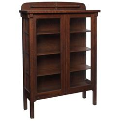 Arts & Crafts china cabinet, two doors