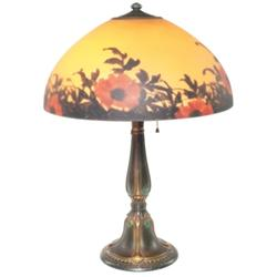 Jefferson lamp, reverse painted shade