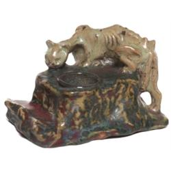 Dalphayrat inkwell, grotesque cat figure