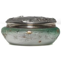 Daum box enameled floral design