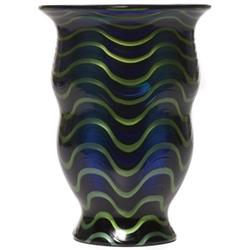 Loetz vase, ca. 1920, footed form