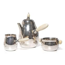 Georg Jensen teaset hammered sterling
