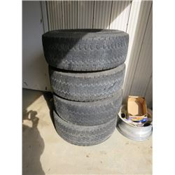 4 TIRES & RIMS FORD 8 BOLT 265-75-16