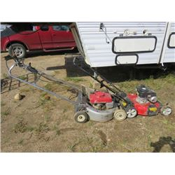 2-PUSH LAWN MOWERS, YARD MACHINE & HONDA, BOTH NEED TUNE UP