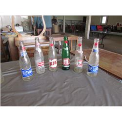 6  Pop bottles - Kid, Old Colony, Stubby, Drewery, 2 Mission