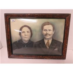 Vintage picture of couple 11¾ x 15¾
