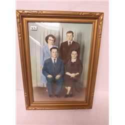 Vintage picture of 4 people 14½ x 12½