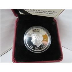2012 $20 FINE SILVER COIN QUEEN'S DIAMOND JUBILEE