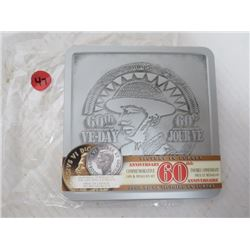 VE DAY 60TH ANNIVERSARY COMMERATIVE COIN & MEDALLION SET FEATURING PORTRAIT OF THE LATE KING GEORGE