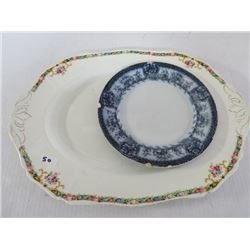 """Platter - Alfred Meuking 12""""x16"""" made in England & Plate Mikado - Grimwade Statfordshire, England  8"""
