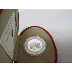 2005 $5 SILVER DOLLAR MAPLE LEAF OF HOPE