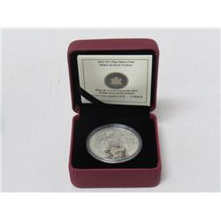 2012 $15 FINE SILVER COIN MAPLE LEAF OF GOOD FORTUNE