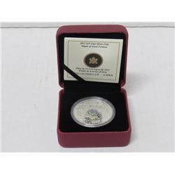 2012 $15 FINE SILVER MAPLE LEAF OF GOOD FORTUNE