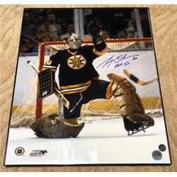 FRIDAY NIGHT! GERRY CHEEVERS FRAMED AUTOGRAPHED BOSTON BRUINS PHOTO WITH COA