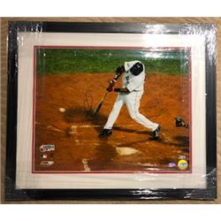 BIG PAPI DAVID ORTIZ AUTOGRAPHED FRAMED WORLD SERIES BOSTON RED SOX PHOTO WITH COA