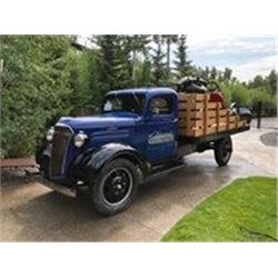 1937 CHEVROLET 1 1/2 TON FLATBED TRUCK AND CONCRETE MIXER SHOW TRUCK