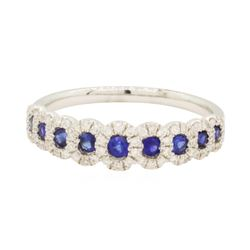 0.29 ctw Blue Sapphire Ring - 18KT White Gold