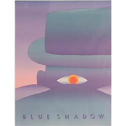Jean Michel Folon (b. 1934) Belgium, BLUE SHADOW, 1984, screenprint poster, signed in pencil, 3...