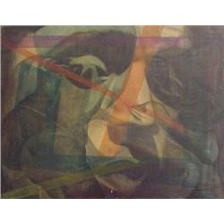 "Mendij (20th Century) European, LOVE, 1966, oil painting on canvas, 28 ½ x 36 ½"", signed and da..."
