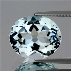 Natural Light Sky Blue Aquamarine 3.57 Ct - VVS