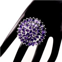 Natural Top Intense Purple Amethyst 120 Cts Ring