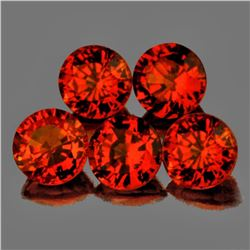 Natural Intense Orange Sapphire 3.80 mm - VVS