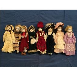 Lot of 8 Porcelain Dolls not in Boxes