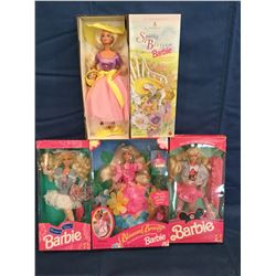Lot of 4 Barbies Collector Edition MIB