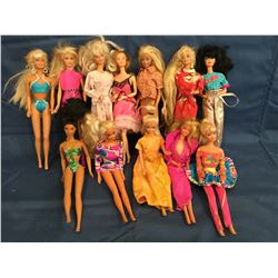 Barbies from various years 12 Dolls