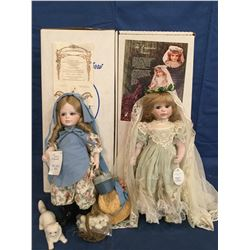 Dolls by Jerri Lot of 2 MIB Porcelain  Limited Edition Signed doll COA
