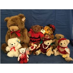 Large Lot of Teddy Bears Various Makes and some with tags etc.
