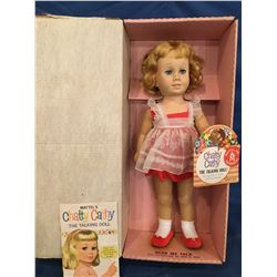 Original Chatty Cathy in Box with her book and hang tag dressed in original clothing